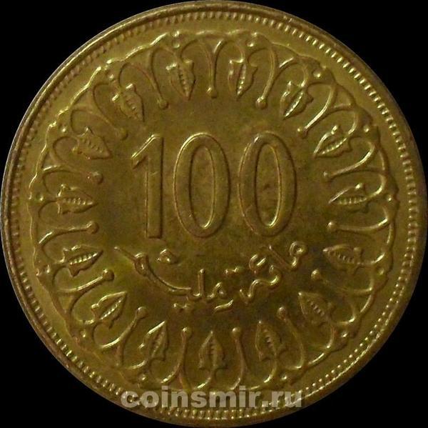 100 миллим 1997 Тунис. (в наличии 1993 год)
