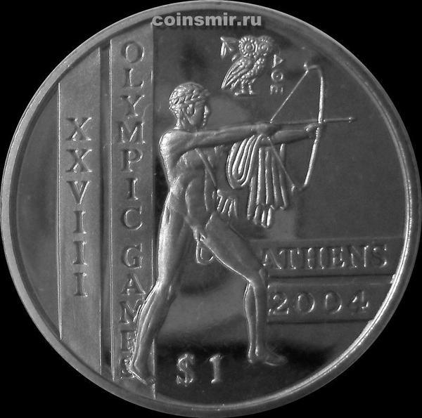 1 доллар 2003 Сьерра-Леоне. Олимпиада в Афинах 2004. Стрельба из лука.