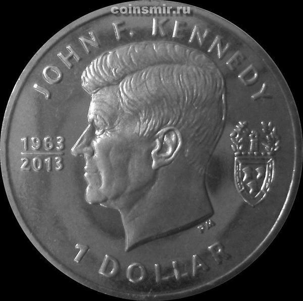 1 доллар 2013 Британские Виргинские острова. Кеннеди.