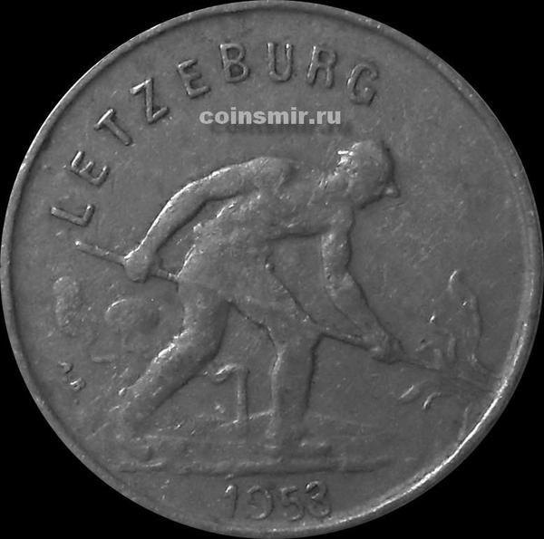 1 франк 1953 Люксембург.