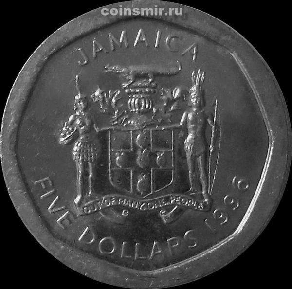 5 долларов 1996 Ямайка.