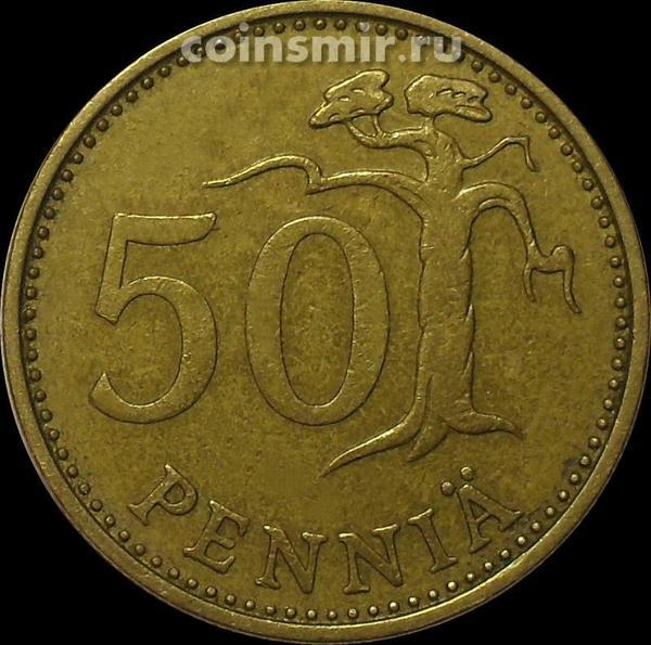 50 пенни 1969 S Финляндия.