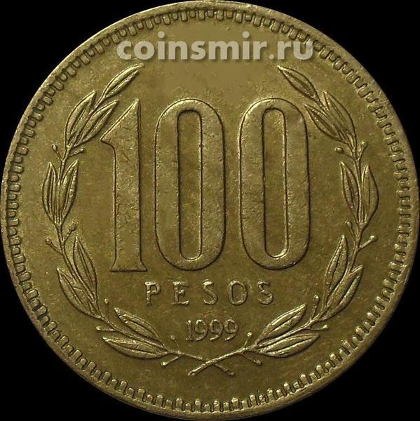 100 песо 1999 Чили. (в наличии 1989 год)