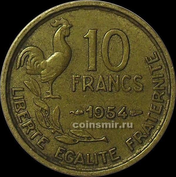 10 франков 1954 Франция. Без В.