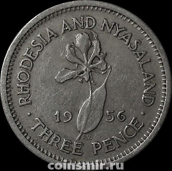 3 пенса 1956 Родезия и Ньясаленд.