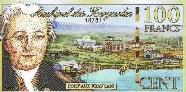 500 франков 2010 острова Кергелен.