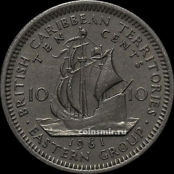10 центов 1961 Британские Карибские территории.