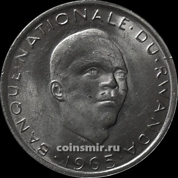 1 франк 1965 Руанда.