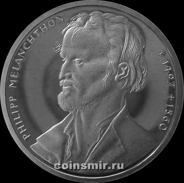 10 марок 1997 G Германия ФРГ. Филипп Меланхтон. Пруф.