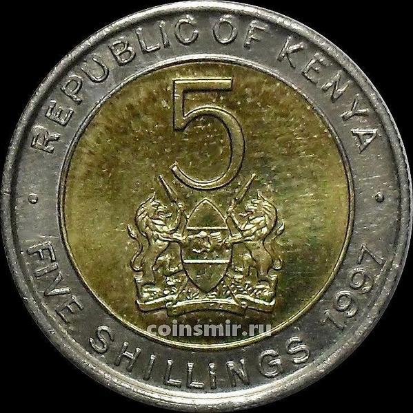 5 шиллингов 1997 Кения.