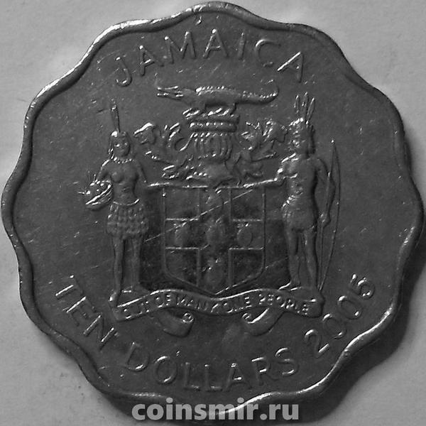 10 долларов 2005 Ямайка.