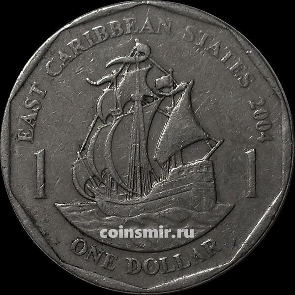 1 доллар 2004 Восточные Карибы. VF.