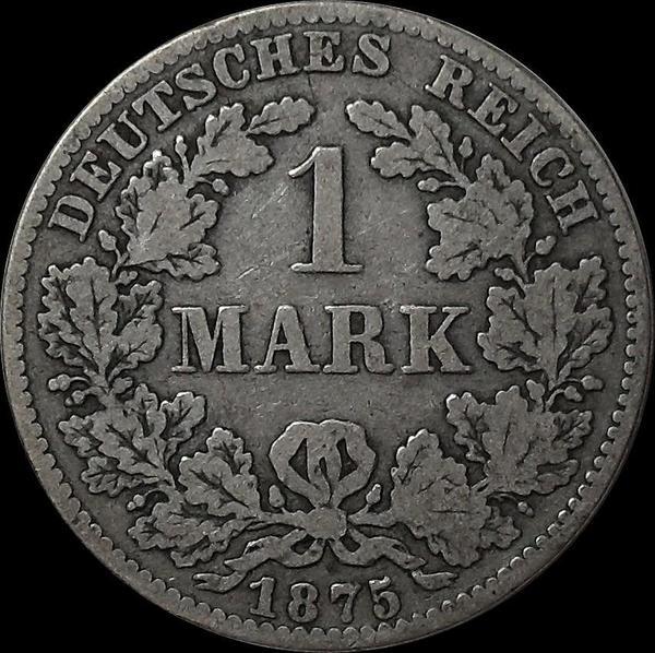 1 марка 1875 B Германия.