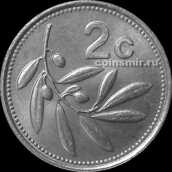 2 цента 1986 Мальта.