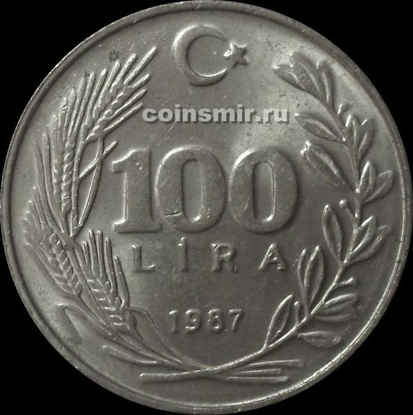 100 лир 1987 Турция.