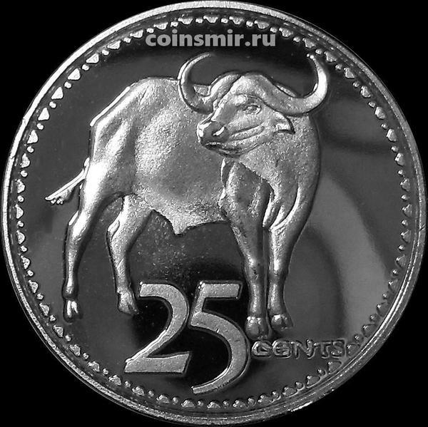 25 центов  2018 Родезия. Буйвол.