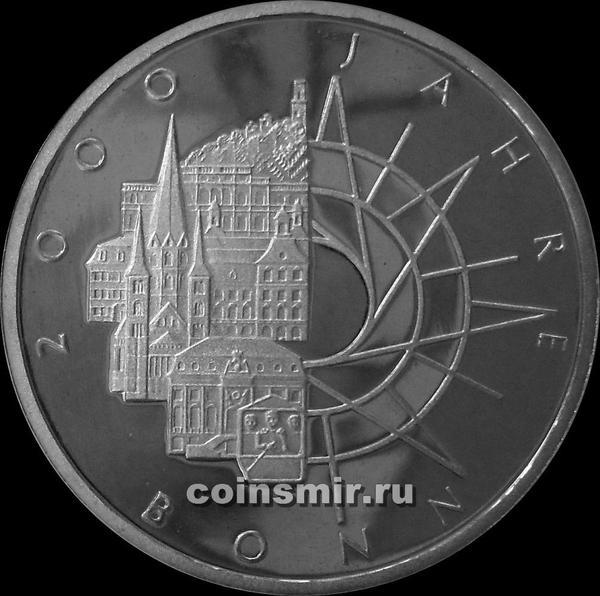 10 марок 1989 D Германия ФРГ. 2000 лет Бонну. Пруф.