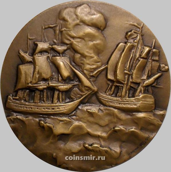 Настольная медаль ЛМД. Адмирал Михаил Петрович Лазарев 1788-1851.