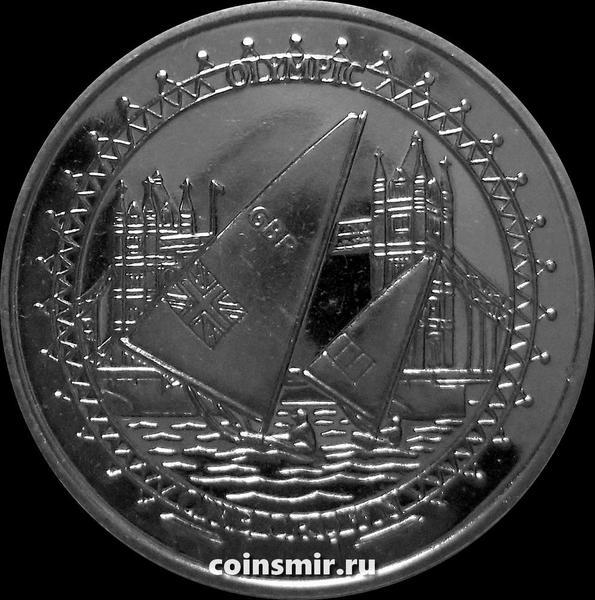 1 крона 2010 остров Мэн. Виндсёрфинг. Летняя Олимпиада в Лондоне 2012.
