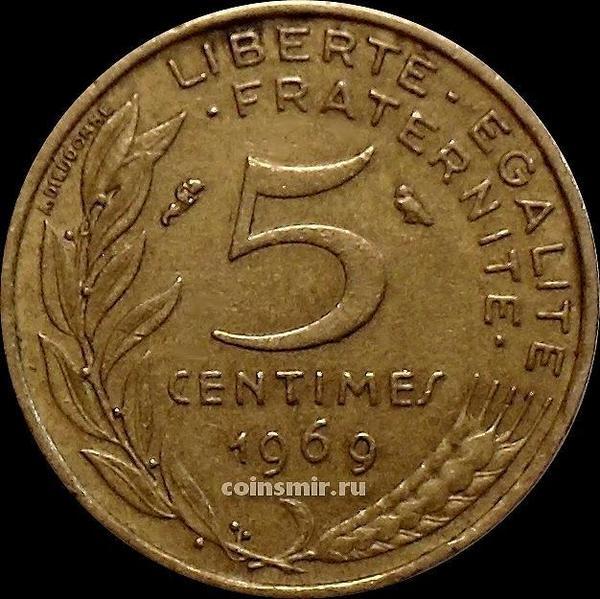 5 сантимов 1969 Франция.