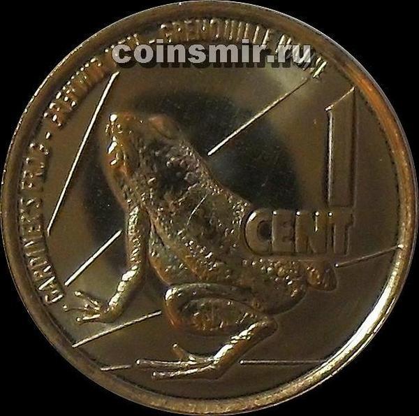 1 цент 2016 Сейшельские острова. Лягушка.