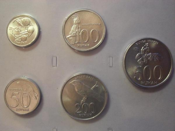 Набор из 5 монет Индонезия.