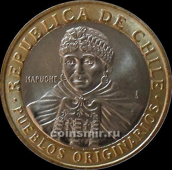 100 песо 2010 Чили.