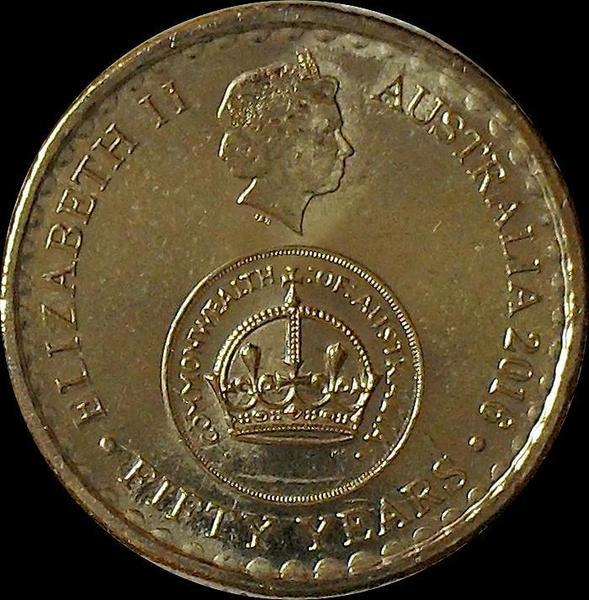 2 доллара 2016 Австралия.  50 лет десятичной системе.