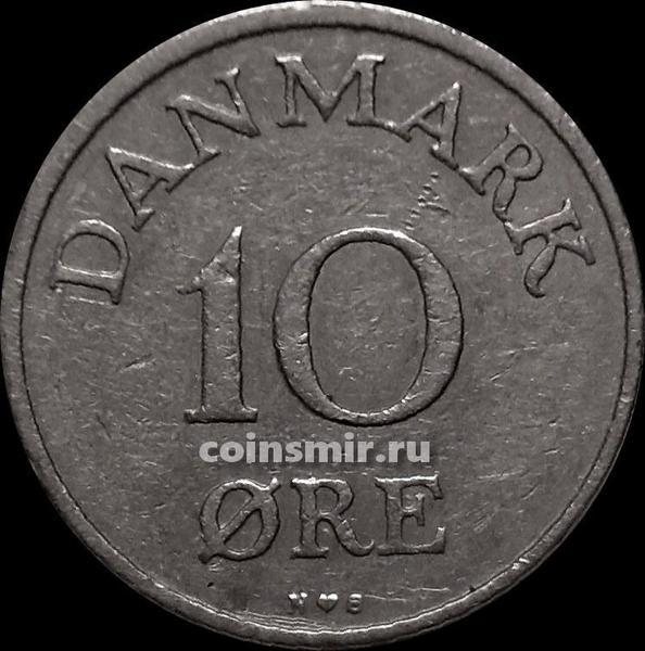 10 эре 1954 N;S Дания.
