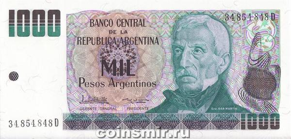 1000 песо 1983-85 Аргентина.