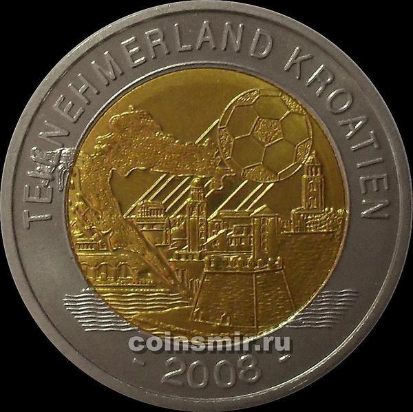 Жетон. Чемпионат Европы 2008. Австрия.  Страна-участник Хорватия.
