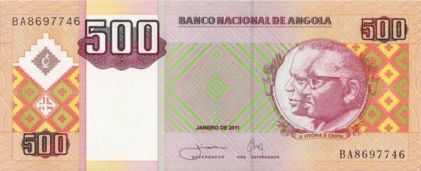 500 кванз 2011 Ангола.