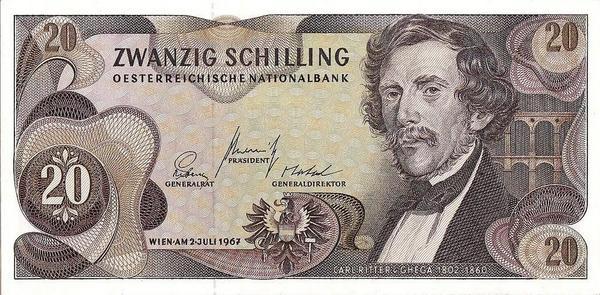 20 шиллингов 1967 Австрия.