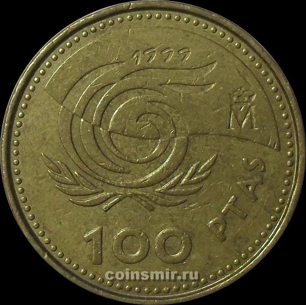 100 песет 1999 Испания. Международный год пожилых людей.