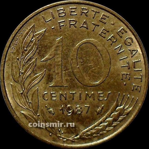 10 сантимов 1987 Франция.