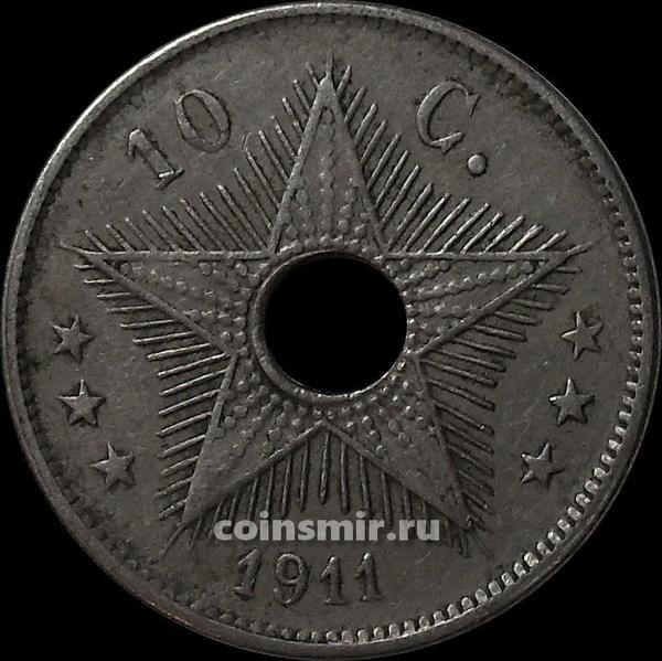 10 сантимов 1911 Бельгийское Конго.