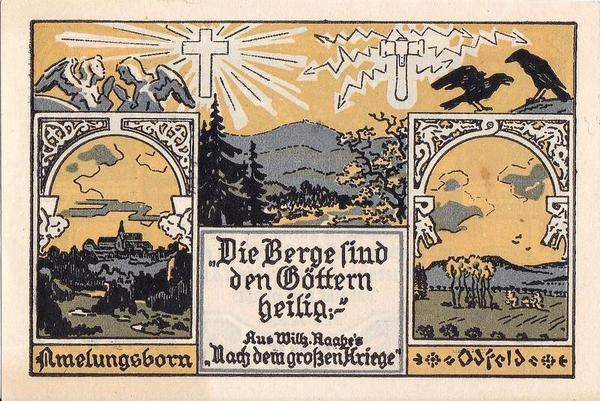 25 пфеннигов 1921 Германия. г. Эшерсхаузен (Нижняя Саксония). Нотгельд.