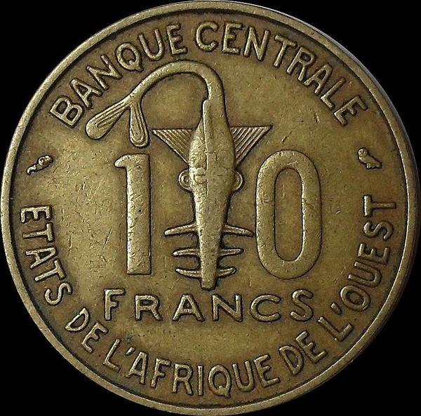 10 франков 1964  КФА BCEAO (Западная Африка).