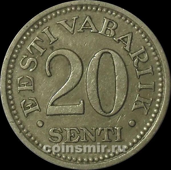 20 сентов 1935 Эстония.