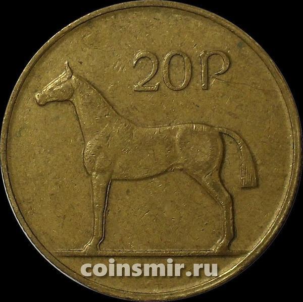 20 пенсов 1986 Ирландия. Лошадь.