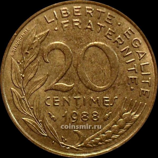 20 сантимов 1988 Франция.