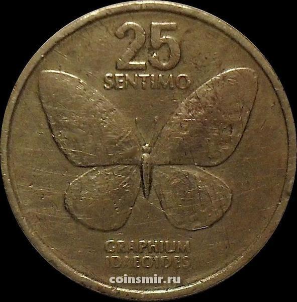 25 сентимо 1984 Филиппины. Бабочка.
