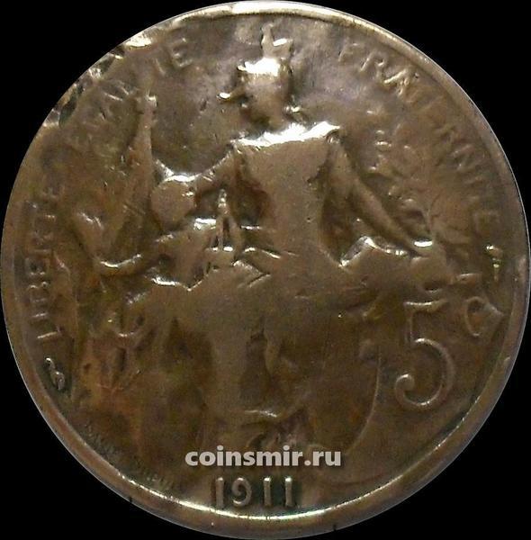 5 сантимов 1911 Франция.