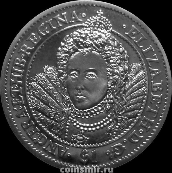1 доллар 2007 Британские Виргинские острова. Елизавета I.