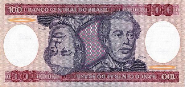 100 крузейро 1981-1984 Бразилия.