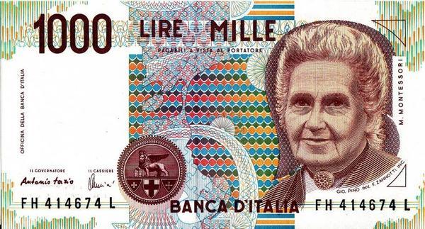 1000 лир 1990 Италия.