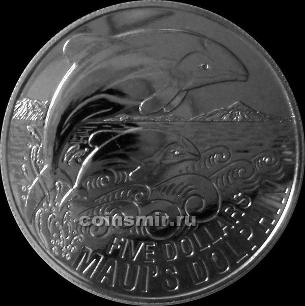 5 долларов 2010 Новая Зеландия. Дельфин мауи.