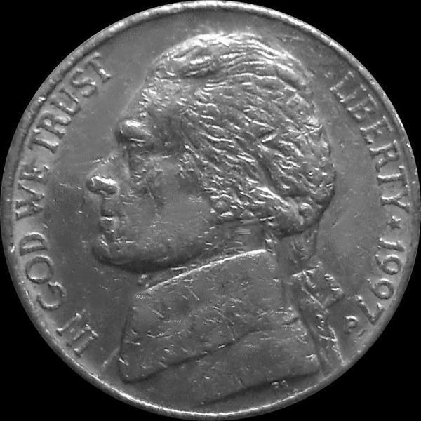 5 центов 1997 Р США. Томас Джефферсон.
