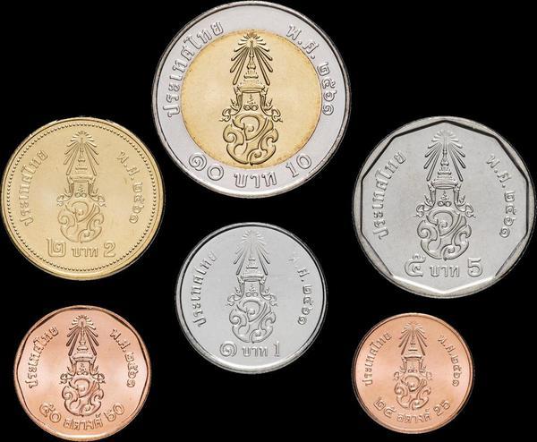 Набор из 6 монет 2018 Таиланд.