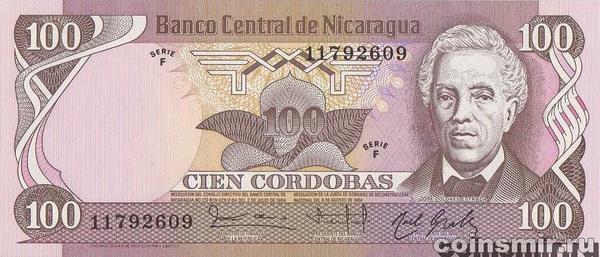 100 кордоб 1984 Никарагуа.